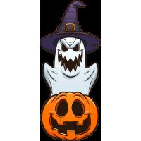 Stickers Halloween Fantôme Citrouille