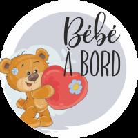 Sticker Bébé à Bord Ourson