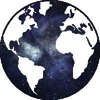 Sticker Monde Mappemonde Globe Galaxie