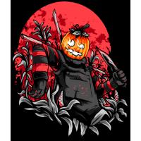 Stickers Halloween Pumpkin Head 2 Citrouille