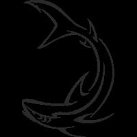 Sticker Requin Bateau