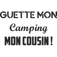 Sticker Guette mon camping