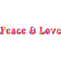 Sticker Peace and Love Love Groovy 3