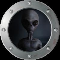 Sticker Hublot Alien 2