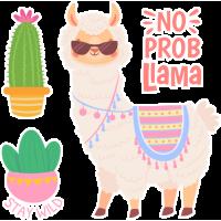 Sticker No Prob Llama