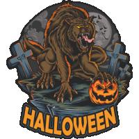 Stickers Halloween Wolf Loup Garou