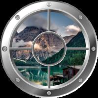 Sticker Hublot Lac de Montagne