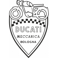 Sticker LOGO DUCATI MECCANICA BOLOGNA 2