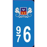 Sticker immatriculation 976 - Mayotte