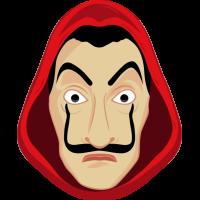 Autocollant Masque Dali Casa de Papel