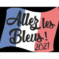 Sticker Allez les bleus 2021 drapeau