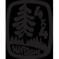 Sticker 4x4 Auvergne