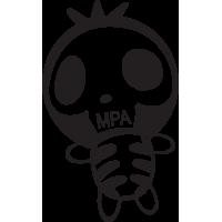 Sticker Tête de Mort 2