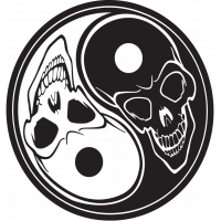 Sticker Tête de Mort 9