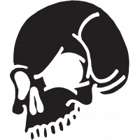 Sticker Tête de Mort 20