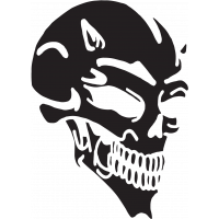 Sticker Tête de Mort 24