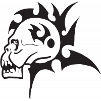 Sticker Tête de Mort 28