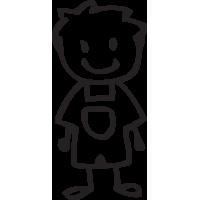Sticker Famille Petit garçon 4