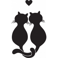 Sticker Chats Amoureux