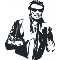 Sticker Johnny Hallyday 2