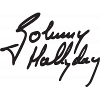 Sticker Johnny Hallyday 3