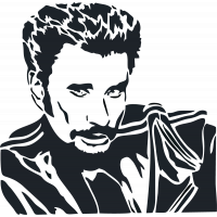 Sticker Johnny Hallyday 6