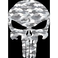 Sticker Punisher Camouflage Neige