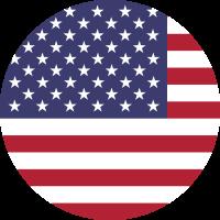Autocollant Drapeau américain rond