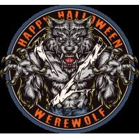 Stickers Halloween Loup Garou