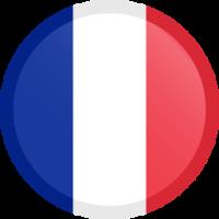 Autocollant Drapeau français bouton rond