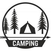 Sticker Déco Baril Camping