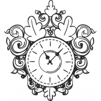Sticker Horloge Vintage 1
