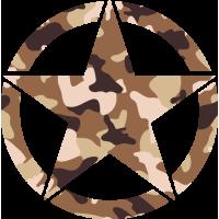 Sticker Etoile US Camouflage sable