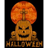 Stickers Halloween Citrouille Cimetière