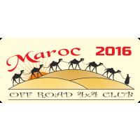 Autocollant 4x4 Off Road Maroc 2016