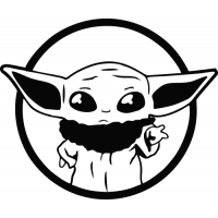 Sticker Baby Yoda