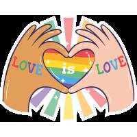 Sticker Love is Love LGBT