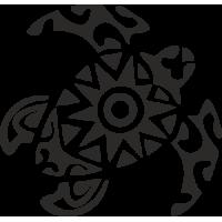 Sticker Tortue Bateau