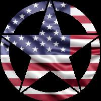 Sticker Etoile US Drapeau USA 2