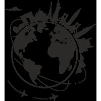 Sticker Monde Mappemonde Globe Voyage