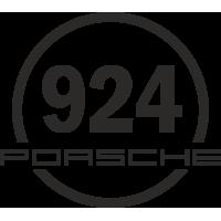 Sticker 924 Porsche rond
