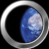 Sticker Hublot Planète terre