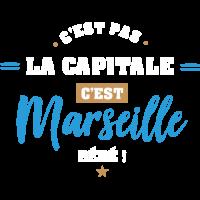 Sticker C'est pas la Capitale c'est Marseille
