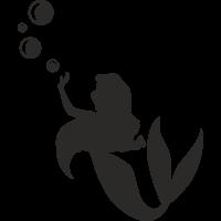 Sticker Sirène bulles