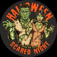 Stickers Halloween Frankenstein Couple
