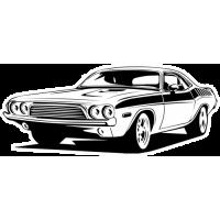 Sticker DODGE Car (2)
