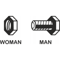 Sticker Homme Femme Toilette 4