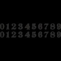 Planche Sticker Chiffres N°5