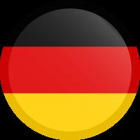 Autocollant Drapeau allemand rond bouton