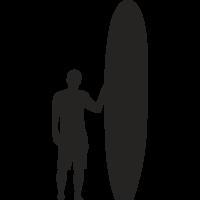 Sticker Surfeur Planche